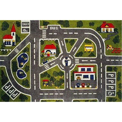 "Fun Time Around Town Road Kids Rug Rug Size: 1'7"" x 2'5"
