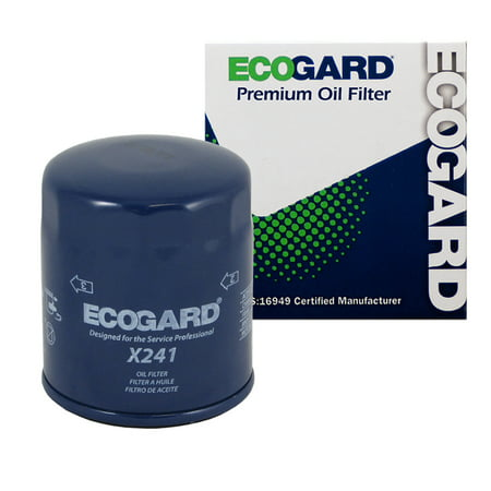 ECOGARD X241 Spin-On Engine Oil Filter for Conventional Oil - Premium Replacement Fits Toyota Tacoma, 4Runner, Sienna, Tundra, Pickup, Camry, Highlander, Avalon, Corolla, Sequoia, Solara, FJ Cruiser