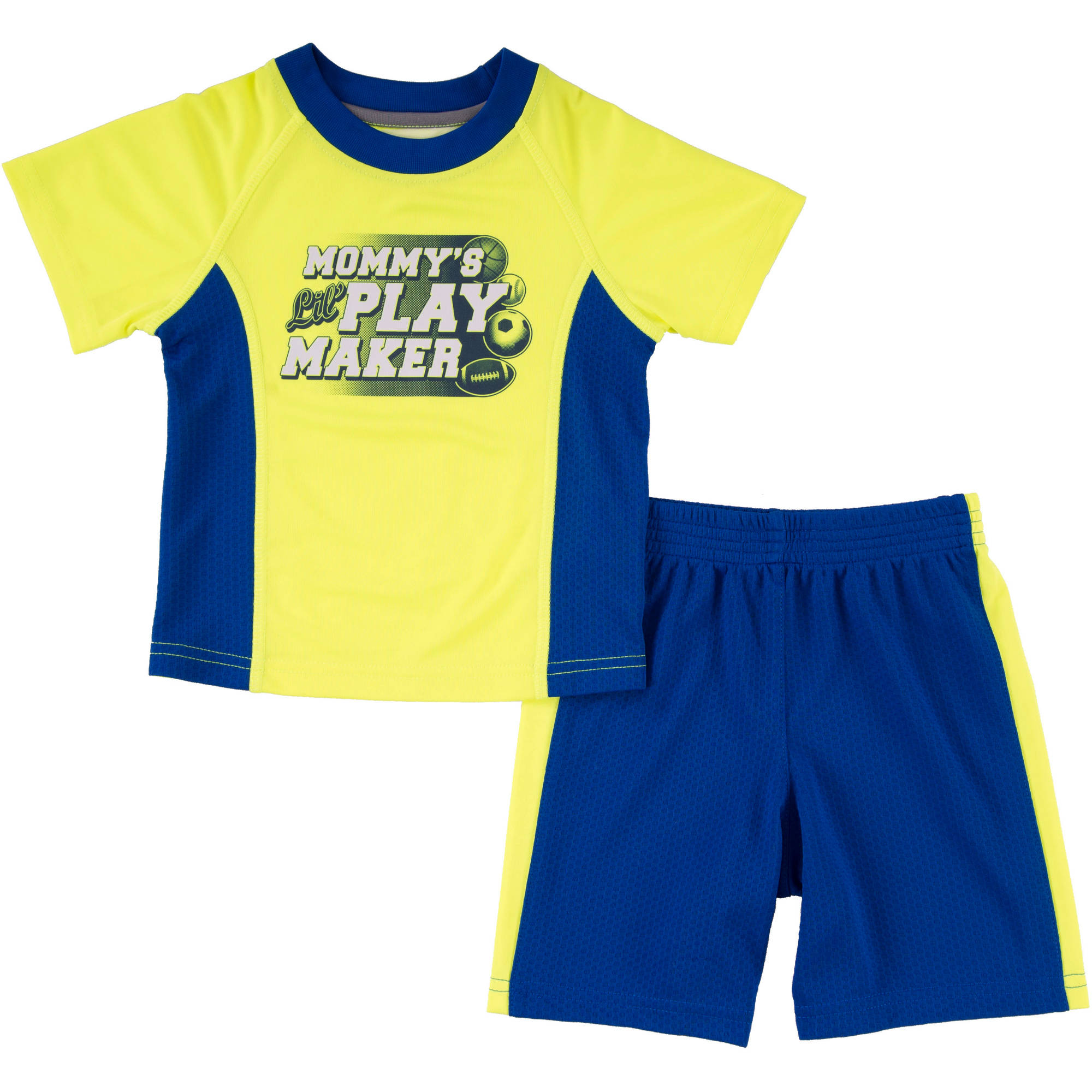 Healthtex Toddler Boy Athletic Graphic Tee & Jersey Shorts Outfit Set