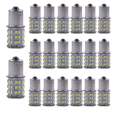 20-Pack 6000K 64-SMD 1156 1141 1003 LED Bulbs For Car Rear Turn Signal lights Interior Camper(Pure White)