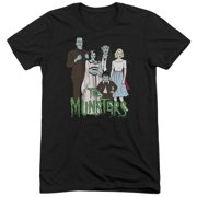 The Munsters The Family Mens Tri-Blend Short Sleeve Shirt
