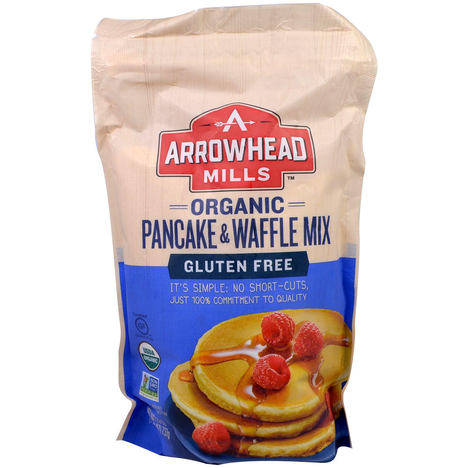 Arrowhead Mills, Organic, Gluten Free, Pancake & Waffle Mix, 26 oz (pack of 4) by