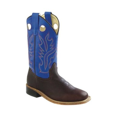 Children's Old West 9 Inch Broad Square Toe Goodyear Welt Cowboy