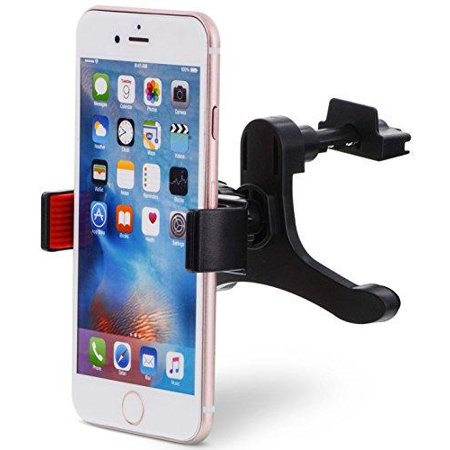 Aduro U Grip Smartphone Car Mount   Air Vent  Grip Mount Works With All Mobile Phones   360 Rotation  Strong Grip  One Handed Operation   Black   Red