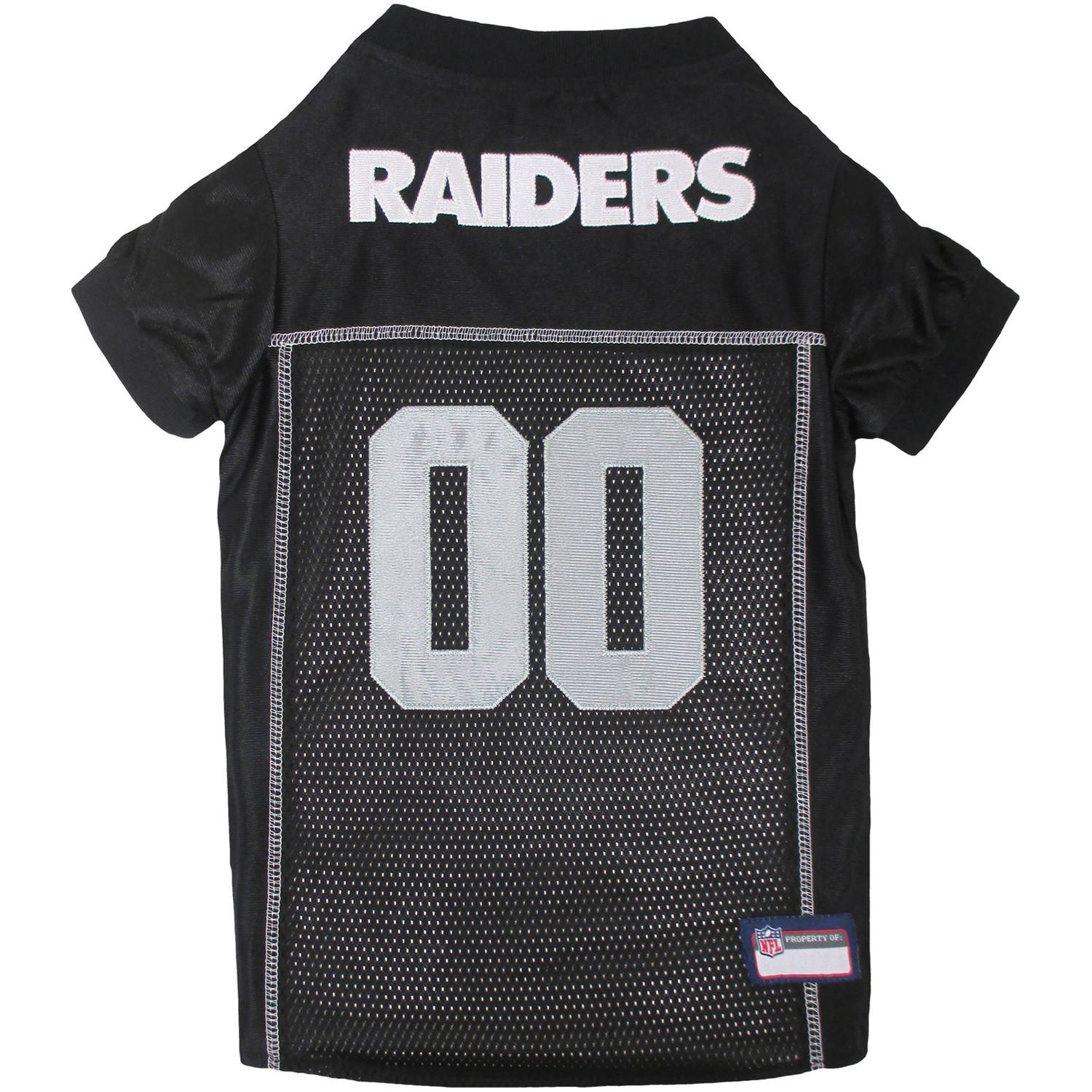 Pets First NFL Oakland Raiders Premium Dog Jersey, 4 Sizes Available