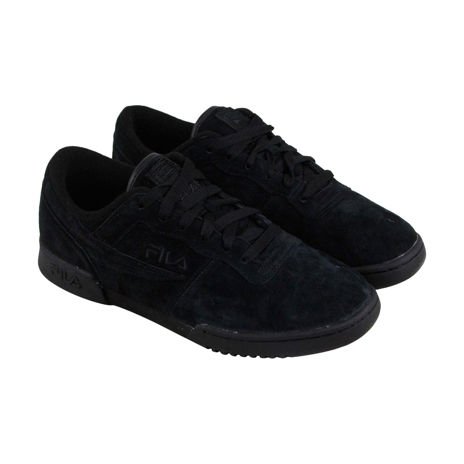 Fila Original Fitness Premium Mens Black Suede Lace Up Sneakers Shoes by Fila