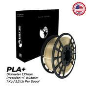 GST3D PLA+ 3D Printer Filament Gold, Dimensional Accuracy +/- 0.03 mm, 1 kg Spool (2.2 lbs), 1.75 mm