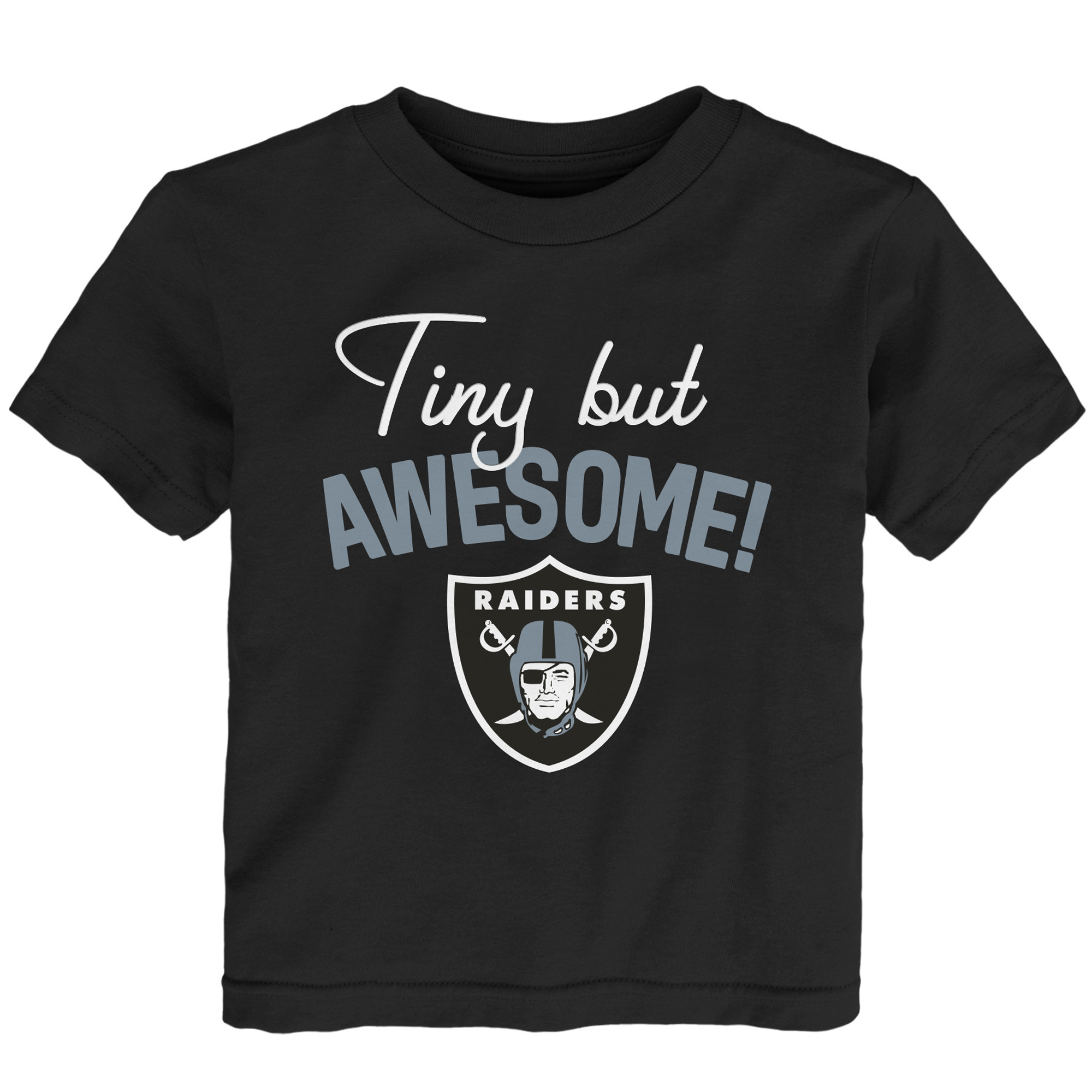 Oakland Raiders Preschool Awesome Script T-Shirt - Black