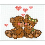 """Little Imps Counted Cross Stitch Kit, 6.25"""" x 5"""" 10 Count"""