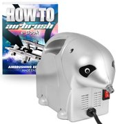 PointZero 1/8 HP Airbrush Compressor - Small Portable Quiet Hobby Oil-less Air Pump - Panda