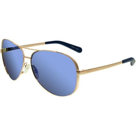 8967f96362 Michael Kors - Michael Kors Women s Chelsea MK5004-100322-59 Rose Gold  Aviator Sunglasses - Walmart.com