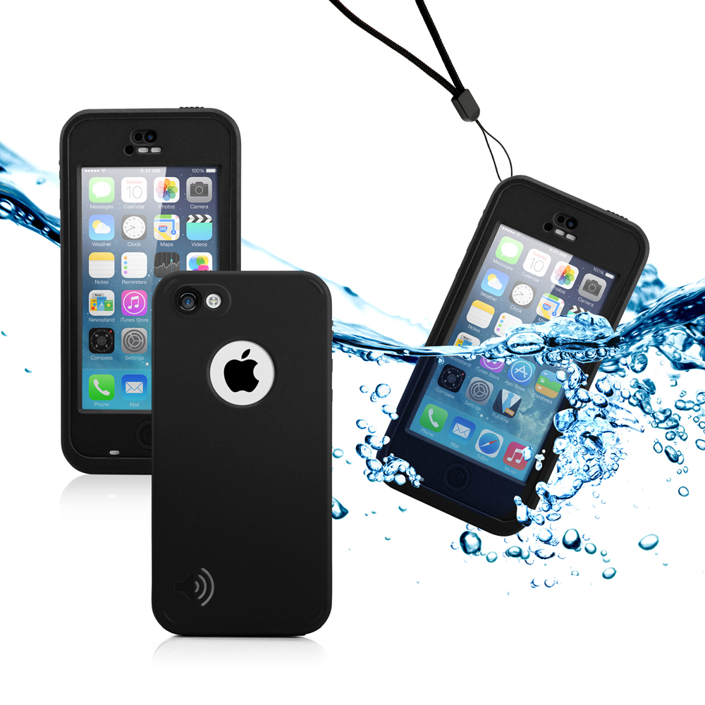 GEARONIC Newest Durable Waterproof Shockproof Dirt Snow Proof Case Cover for iPhone SE & 5C - Black