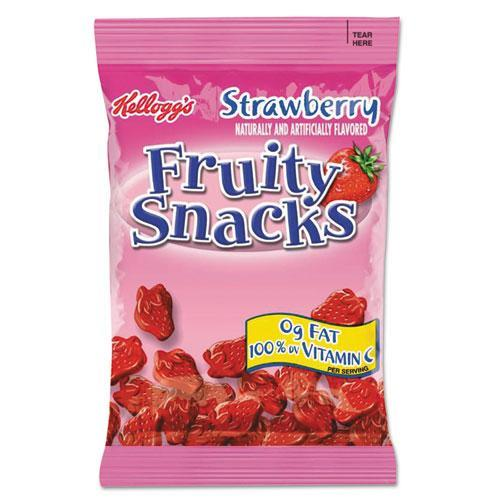 Kellogg's Strawberry Fruity Snacks, 2.5 oz Pouches