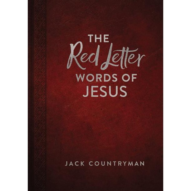 The Red Letter Words of Jesus (Hardcover)