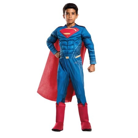 Justice League Movie - Superman Deluxe Child Costume L (Grease The Movie Costumes)