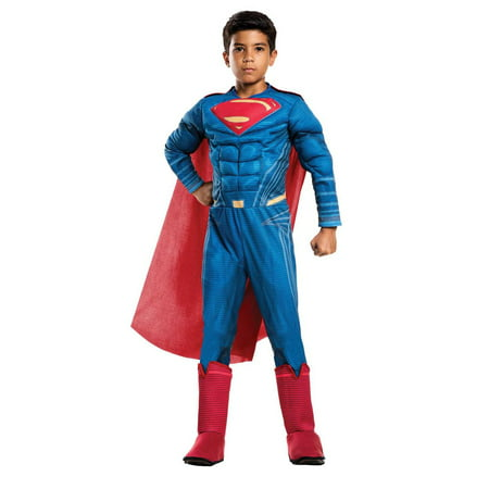 Justice League Movie - Superman Deluxe Child Costume - Man Of Steel Authentic Costume