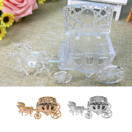 Girl12Queen Carriage Shape Cute Candy Chocolate Box Baby Shower Birthday Wedding Party Favor (Cute Candy)