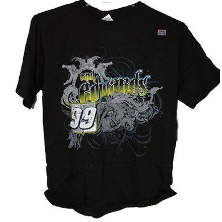 Nascar Carl Edwards  99 Aflac Trackisde 2 Sided Tee Shirt Adult 2X