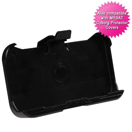 - For iPhone 4s/4 Black Cyborg Holster Clip (Style 4)