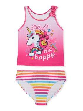 Jojo Siwa Girls 4-12 Unicorn Tankini Swimsuit