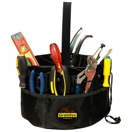 Teardrop Tool Box Pouches - Graintex Grab Bag Professional Tool Holder Carry Pouch Drawstring Pockets PB1836 Tools Set