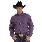 Cinch Western Shirt Mens L/S Stripe Button Pocket Purple MTW1104137