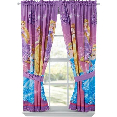 disney grand princesses girls bedroom curtains