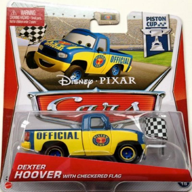 2013 Disney Pixar Cars Dexter Hoover with Checkered Flag Piston Cup by Mattel by