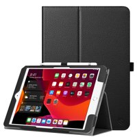 Fintie Tablet Case for 2019 iPad 10.2 Inch ( 7th Gen) - Protective Folio Cover with Stylus Holder, Black