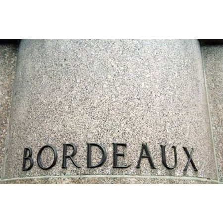 Footed Pedestal (Foot Pedestal of Statue Bordeaux City Poster Print by Per)