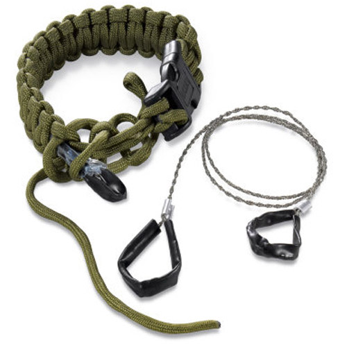 Columbia River Knife and Tool Onion Survival Para-Saw Barcelet, L, OD Green