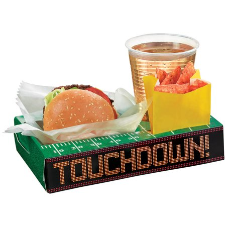Amscan Touchdown Football Party Snack Box 9.5