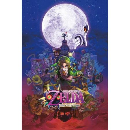 The Legend Of Zelda Majoras Mask Nintendo Fantasy Video Game Poster - 24x36 inch