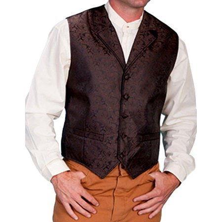 Scully Western Vest Mens Manly Quality Lined Paisley Button RW093XX](Western Vests)