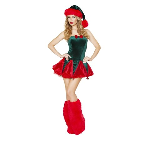 1pc Naughty Elf Christmas Adult Womens Costume