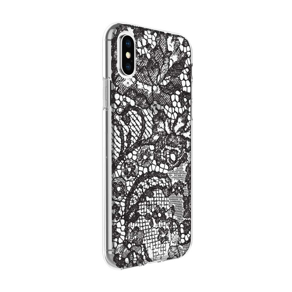 pretty nice 63aa3 822ca KENDALL + KYLIE Protective Printed Case for iPhone X - Lace Print Black  Foil/Translucent Black