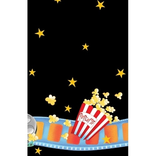 Hollywood Movie Night 'Lights Camera Action' Plastic Table Cover (1ct)