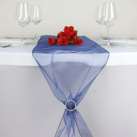 Efavormart 5PCS of Premium Organza Table Top Runner For Weddings Birthday Party Banquets Decor Fit Rectangle and Round Table](Red Christmas Table Runner)