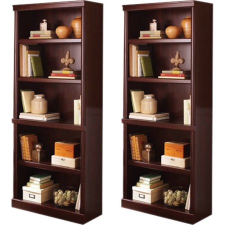 2 Door Mahogany Bookcase (Better Homes and Gardens Crossmill Bookcase with Doors, Set of 2, (Mix and Match) )