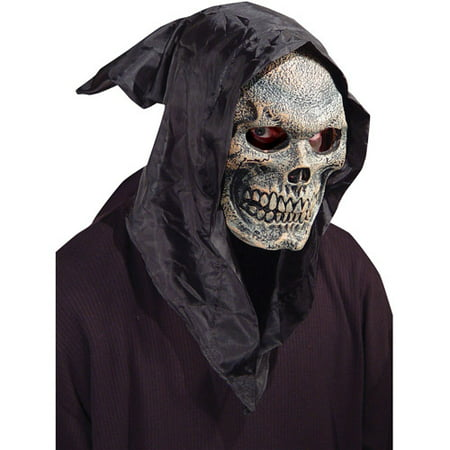 Skull Hooded Adult Halloween Flexi Face - Painting A Skull Face For Halloween
