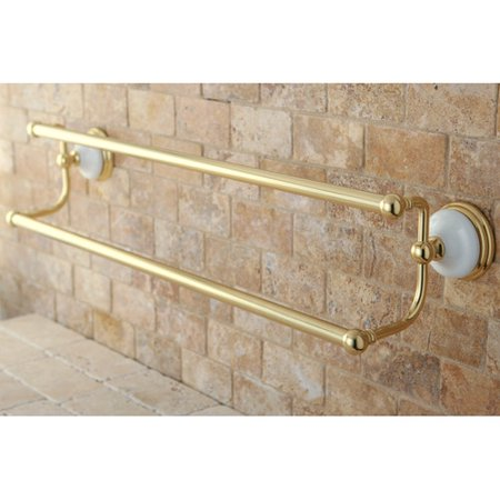 - Kingston Brass Victorian Double 24'' Wall Mounted Towel Bar