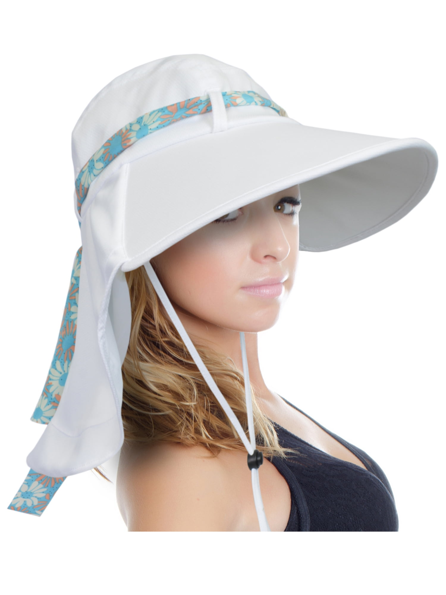 eee27af17 Sun Hat for Women Large Brim UV Sun Protection with Neck Flap Hat for  Outing Fishing, Hiking, Holiday by Sun Blocker