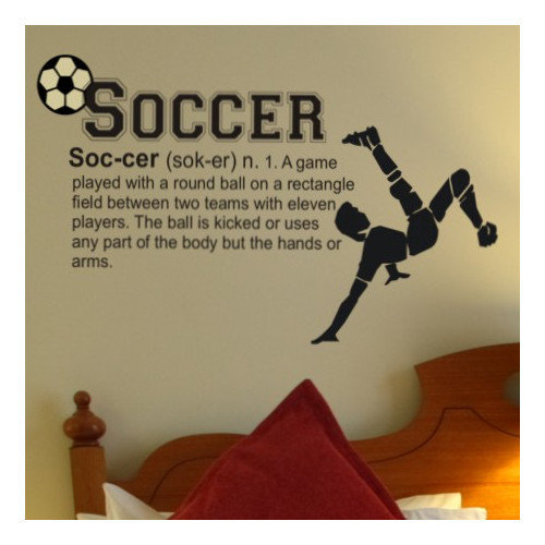 Alphabet Garden Designs Soccer Definition Wall Decal