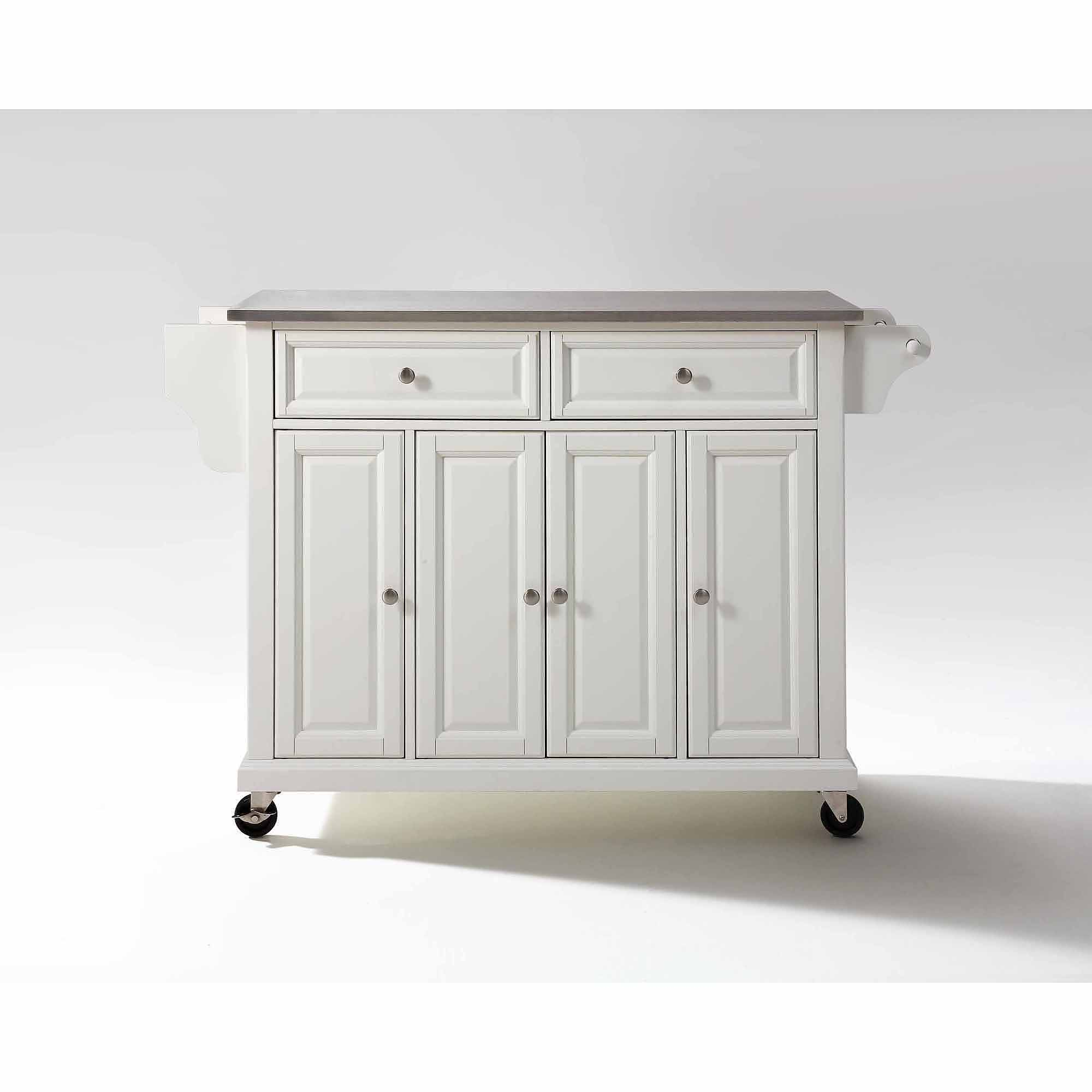 Superbe Crosley Furniture Stainless Steel Top Kitchen Cart   Walmart.com