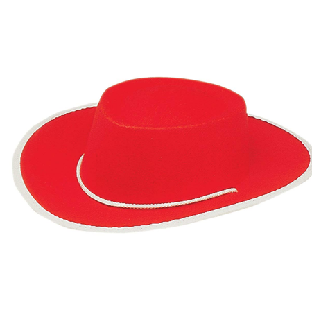 Child Red Cowboy Hat Jessie Toy Story 2 3 Cowgirl Costume Movie Kids Girls Gift - Girls Jessie Costume