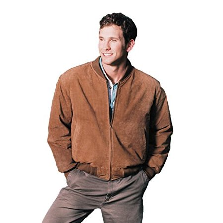Suede Leather Baseball - REED MEN'S BASEBALL SUEDE LEATHER JACKET (IMPORTED) (XL, CAMEL)