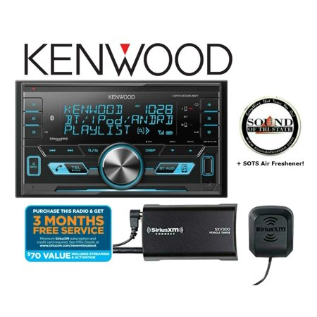 Kenwood DPX303MBTDigital media receiver (does not play CDs) with SiriusXM SXV300KV1 Tuner and Antenna and a SOTS Air
