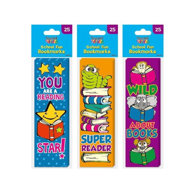 Eros F01-FDTB157 25-Pack School Fun Bookmarks - Pack of 48