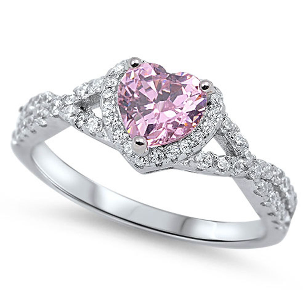pink heart diamond products gold ring rings sapphire rose engagement wedding with
