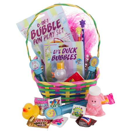 Spring Bunny Bubbles Rubber Duck Toddler 35pc Filled Easter Basket Gift Set](Filled Easter Baskets)